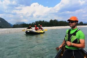 Canoa rafting tagliamento
