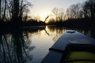 canoa invernale fiume stella friuli